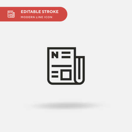 Newspaper Simple vector icon. Illustration symbol design template for web mobile UI element. Perfect color modern pictogram on editable stroke. Newspaper icons for your business project