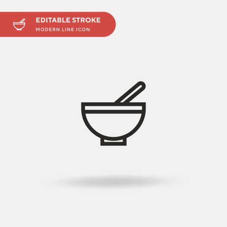 Baby Food Simple vector icon. Illustration symbol design template for web mobile UI element. Perfect color modern pictogram on editable stroke. Baby Food icons for your business project Ilustrace
