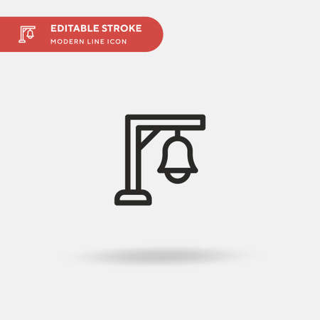 Bell Simple vector icon. Illustration symbol design template for web mobile UI element. Perfect color modern pictogram on editable stroke. Bell icons for your business project Vettoriali
