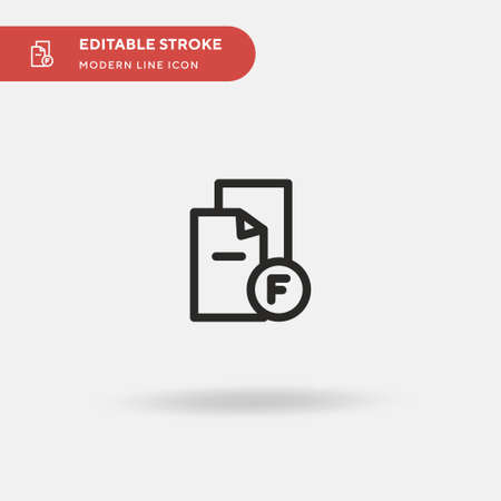 Failed Simple vector icon. Illustration symbol design template for web mobile UI element. Perfect color modern pictogram on editable stroke. Failed icons for your business project