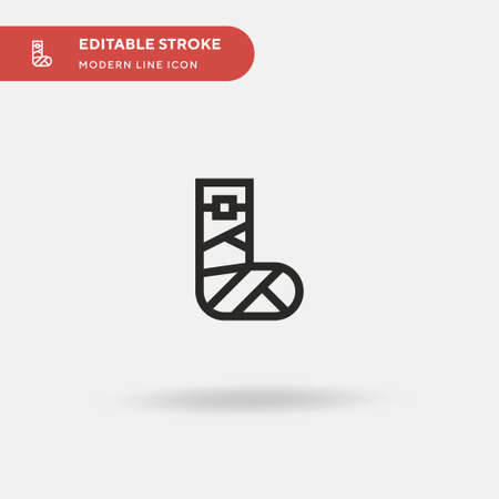 Bandage Simple vector icon. Illustration symbol design template for web mobile UI element. Perfect color modern pictogram on editable stroke. Bandage icons for your business project Stock Illustratie