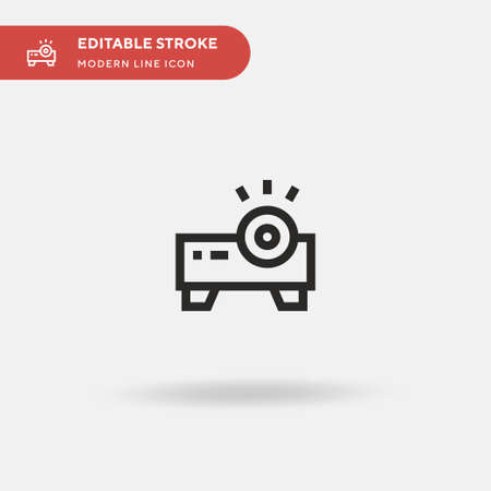 Home Theater Simple vector icon. Illustration symbol design template for web mobile UI element. Perfect color modern pictogram on editable stroke. Home Theater icons for your business project Çizim
