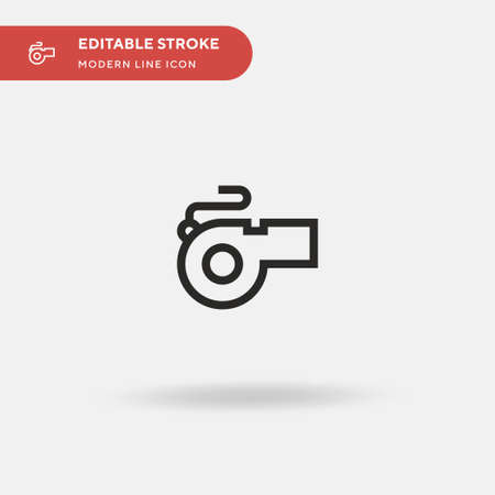 Whistle Simple vector icon. Illustration symbol design template for web mobile UI element. Perfect color modern pictogram on editable stroke. Whistle icons for your business project
