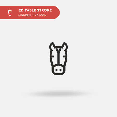 Horse Simple vector icon. Illustration symbol design template for web mobile UI element. Perfect color modern pictogram on editable stroke. Horse icons for your business project Illusztráció