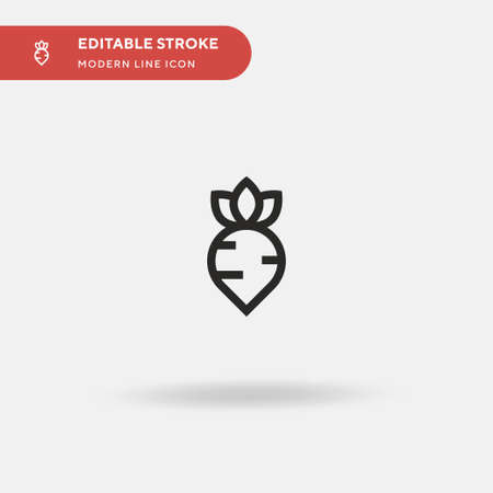 Beet Simple vector icon. Illustration symbol design template for web mobile UI element. Perfect color modern pictogram on editable stroke. Beet icons for your business project