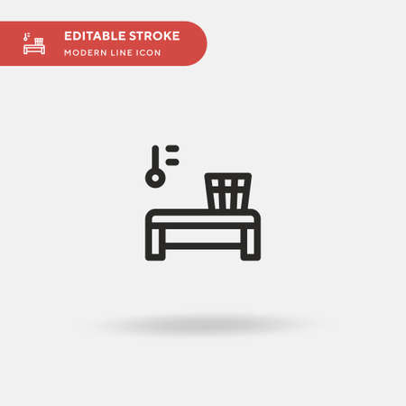 Sauna Simple vector icon. Illustration symbol design template for web mobile UI element. Perfect color modern pictogram on editable stroke. Sauna icons for your business project