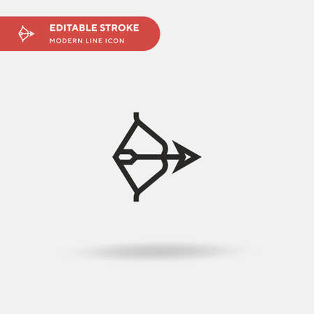 Bow Simple vector icon. Illustration symbol design template for web mobile UI element. Perfect color modern pictogram on editable stroke. Bow icons for your business project Stock Illustratie