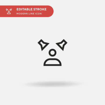 Acting Simple vector icon. Illustration symbol design template for web mobile UI element. Perfect color modern pictogram on editable stroke. Acting icons for your business project