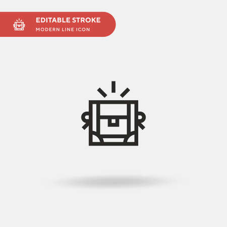 Treasure Simple vector icon. Illustration symbol design template for web mobile UI element. Perfect color modern pictogram on editable stroke. Treasure icons for your business project