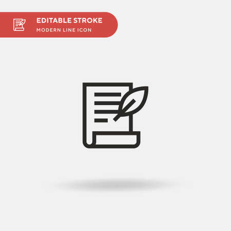 Will Simple vector icon. Illustration symbol design template for web mobile UI element. Perfect color modern pictogram on editable stroke. Will icons for your business project