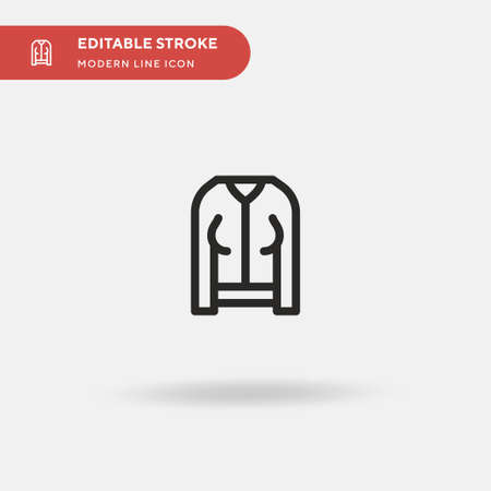 Jacket Simple vector icon. Illustration symbol design template for web mobile UI element. Perfect color modern pictogram on editable stroke. Jacket icons for your business project Stock Illustratie