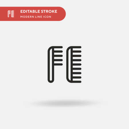 Hair Comb Simple vector icon. Illustration symbol design template for web mobile UI element. Perfect color modern pictogram on editable stroke. Hair Comb icons for your business project