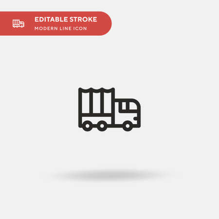 Military Truck Simple vector icon. Illustration symbol design template for web mobile UI element. Perfect color modern pictogram on editable stroke. Military Truck icons for your business project