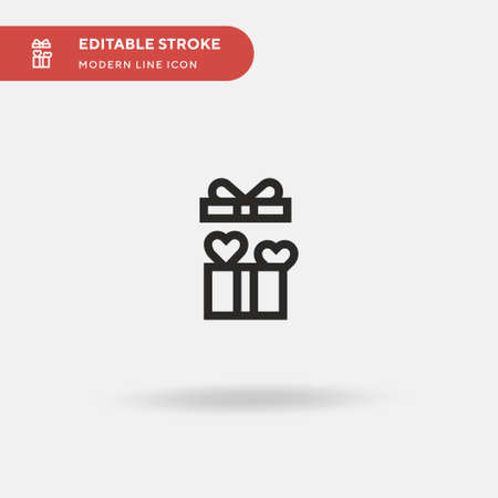 Gift Simple vector icon. Illustration symbol design template for web mobile UI element. Perfect color modern pictogram on editable stroke. Gift icons for your business project 일러스트