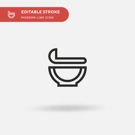Gravy Simple vector icon. Illustration symbol design template for web mobile UI element. Perfect color modern pictogram on editable stroke. Gravy icons for your business project  イラスト・ベクター素材