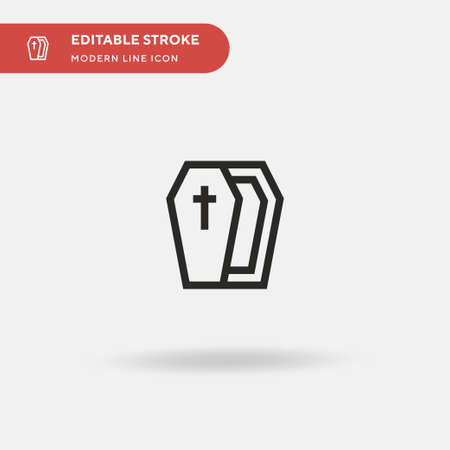 Casket Simple vector icon. Illustration symbol design template for web mobile UI element. Perfect color modern pictogram on editable stroke. Casket icons for your business project