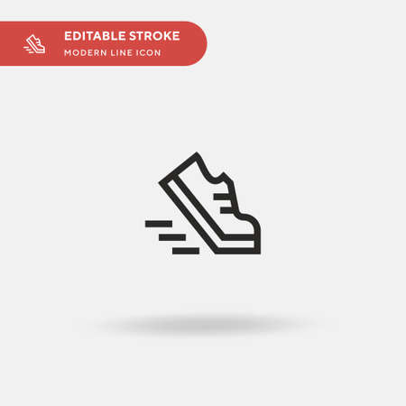 Run Simple vector icon. Illustration symbol design template for web mobile UI element. Perfect color modern pictogram on editable stroke. Run icons for your business project