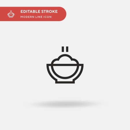 Mashed Potatoes Simple vector icon. Illustration symbol design template for web mobile UI element. Perfect color modern pictogram on editable stroke. Mashed Potatoes icons for your business project