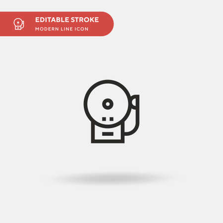 Fire Alarm Simple vector icon. Illustration symbol design template for web mobile UI element. Perfect color modern pictogram on editable stroke. Fire Alarm icons for your business project  イラスト・ベクター素材