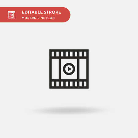 Trailer Simple vector icon. Illustration symbol design template for web mobile UI element. Perfect color modern pictogram on editable stroke. Trailer icons for your business project 일러스트