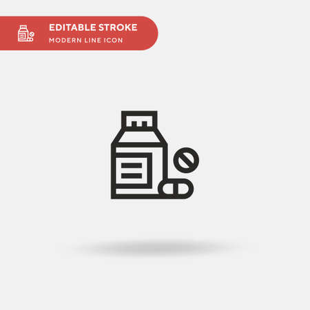 Pills Simple vector icon. Illustration symbol design template for web mobile UI element. Perfect color modern pictogram on editable stroke. Pills icons for your business project