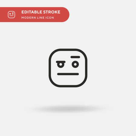 Suspicious Simple vector icon. Illustration symbol design template for web mobile UI element. Perfect color modern pictogram on editable stroke. Suspicious icons for your business project Vectores