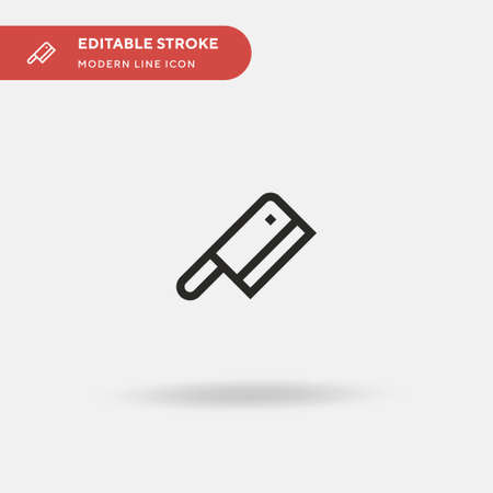 Knife Simple vector icon. Illustration symbol design template for web mobile UI element. Perfect color modern pictogram on editable stroke. Knife icons for your business project