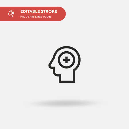 Mental Health Simple vector icon. Illustration symbol design template for web mobile UI element. Perfect color modern pictogram on editable stroke. Mental Health icons for your business project