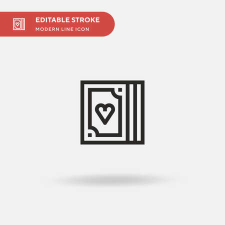 Poker Simple vector icon. Illustration symbol design template for web mobile UI element. Perfect color modern pictogram on editable stroke. Poker icons for your business project Ilustração