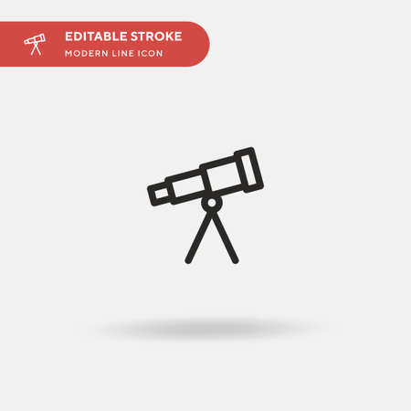 Telescope Simple vector icon. Illustration symbol design template for web mobile UI element. Perfect color modern pictogram on editable stroke. Telescope icons for your business project