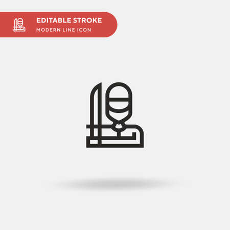Butcher Simple vector icon. Illustration symbol design template for web mobile UI element. Perfect color modern pictogram on editable stroke. Butcher icons for your business project 일러스트