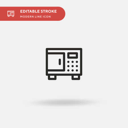 Safety Box Simple vector icon. Illustration symbol design template for web mobile UI element. Perfect color modern pictogram on editable stroke. Safety Box icons for your business project