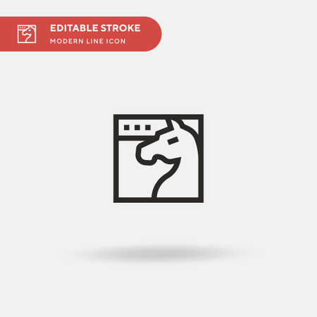 Trojan Simple vector icon. Illustration symbol design template for web mobile UI element. Perfect color modern pictogram on editable stroke. Trojan icons for your business project