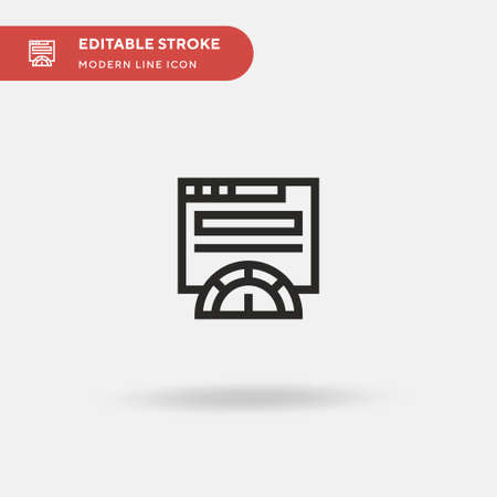Speedometer Simple vector icon. Illustration symbol design template for web mobile UI element. Perfect color modern pictogram on editable stroke. Speedometer icons for your business project