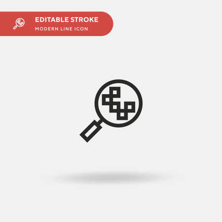 Research Simple vector icon. Illustration symbol design template for web mobile UI element. Perfect color modern pictogram on editable stroke. Research icons for your business project