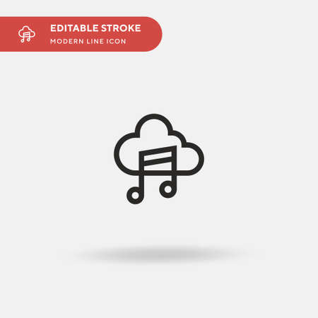 Cloud Simple vector icon. Illustration symbol design template for web mobile UI element. Perfect color modern pictogram on editable stroke. Cloud icons for your business project