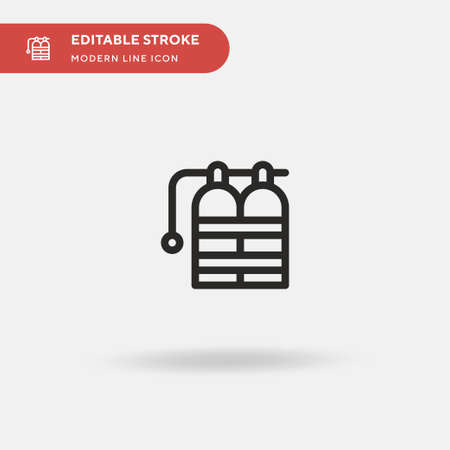 Oxygen Tank Simple vector icon. Illustration symbol design template for web mobile UI element. Perfect color modern pictogram on editable stroke. Oxygen Tank icons for your business project Illusztráció
