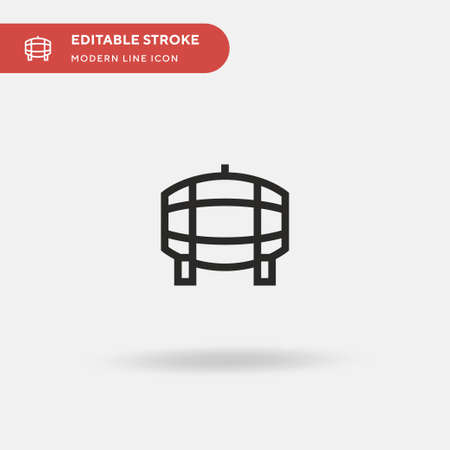 Wine Barrel Simple vector icon. Illustration symbol design template for web mobile UI element. Perfect color modern pictogram on editable stroke. Wine Barrel icons for your business project