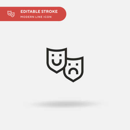 Theater Simple vector icon. Illustration symbol design template for web mobile UI element. Perfect color modern pictogram on editable stroke. Theater icons for your business project Ilustração