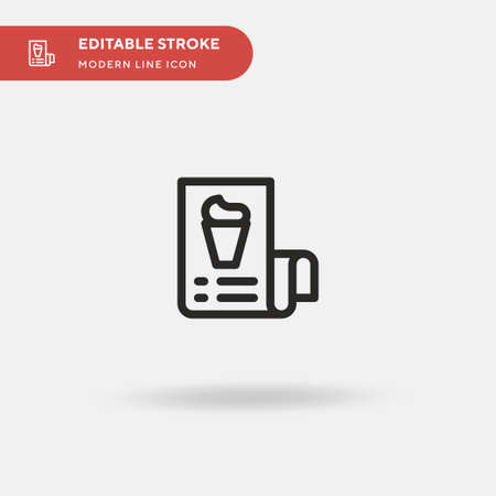 Bill Simple vector icon. Illustration symbol design template for web mobile UI element. Perfect color modern pictogram on editable stroke. Bill icons for your business project