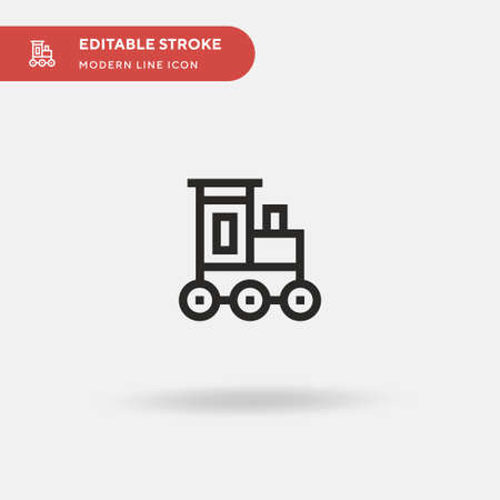 Train Toy Simple vector icon. Illustration symbol design template for web mobile UI element. Perfect color modern pictogram on editable stroke. Train Toy icons for your business project Ilustração