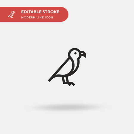 Animal Simple vector icon. Illustration symbol design template for web mobile UI element. Perfect color modern pictogram on editable stroke. Animal icons for your business project