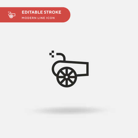 Canon Simple vector icon. Illustration symbol design template for web mobile UI element. Perfect color modern pictogram on editable stroke. Canon icons for your business project