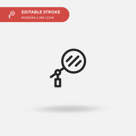 Reflector Simple vector icon. Illustration symbol design template for web mobile UI element. Perfect color modern pictogram on editable stroke. Reflector icons for your business project Illusztráció