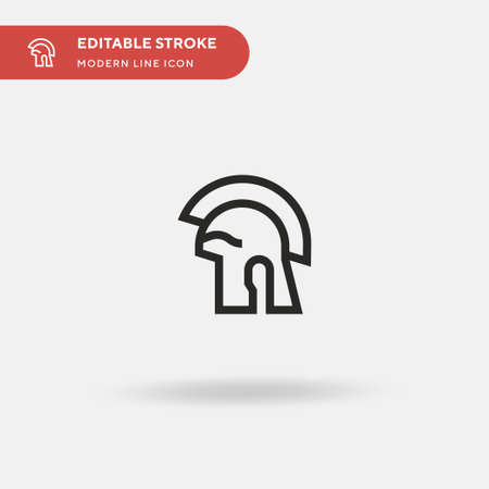 Roman Simple vector icon. Illustration symbol design template for web mobile UI element. Perfect color modern pictogram on editable stroke. Roman icons for your business project
