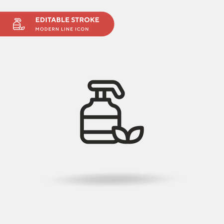 Lotion Simple vector icon. Illustration symbol design template for web mobile UI element. Perfect color modern pictogram on editable stroke. Lotion icons for your business project Vettoriali