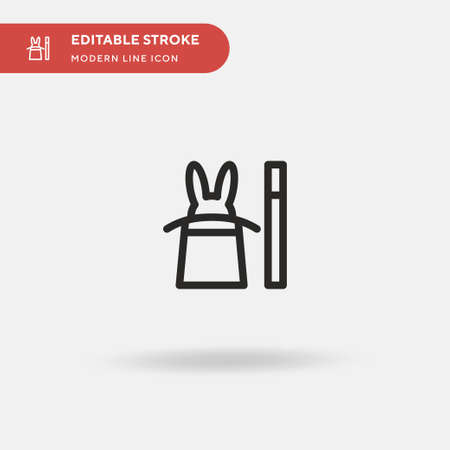 Magic Simple vector icon. Illustration symbol design template for web mobile UI element. Perfect color modern pictogram on editable stroke. Magic icons for your business project