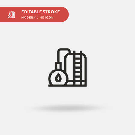 Storage Tank Simple vector icon. Illustration symbol design template for web mobile UI element. Perfect color modern pictogram on editable stroke. Storage Tank icons for your business project
