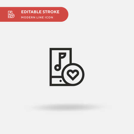 Song Simple vector icon. Illustration symbol design template for web mobile UI element. Perfect color modern pictogram on editable stroke. Song icons for your business project