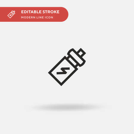 Energy Drink Simple vector icon. Illustration symbol design template for web mobile UI element. Perfect color modern pictogram on editable stroke. Energy Drink icons for your business project
